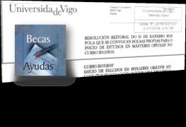 Actualidad - Convocatoria de ayudas propias de la Universidad de Vigo para la realización es estudios de máster